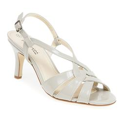 AMI1752 Sandals in Navy Patent, Nude Patent, Silver
