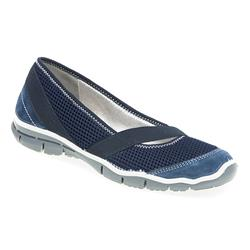 IMAC1702 Leather/Textile Flats in Navy, Pearl