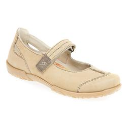 ROH17-1164 Leather Upper Flats in Natural
