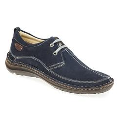 NMZ1702 Leather Lace Up in Navy
