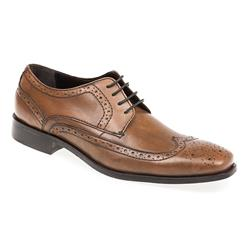 SARA1703 Leather Upper Lace Up in Chilli, Cognac