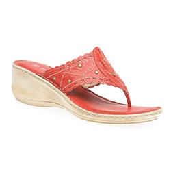 PARK1700 Leather Sandals in Black, Mustard, Red, White