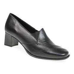 YORK1725 Leather Low to Mid Heels in Black