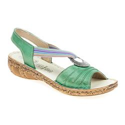 HSHAK1706 Leather Sandals in Blue, Green