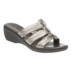 B1500 Leather Upper Sandals in Pewter