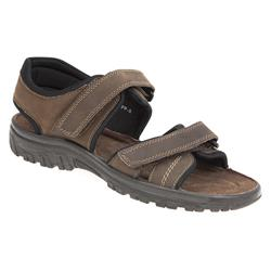TEJ1703FP Leather Sandals in Black, Brown