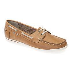 AD1700 Leather Upper Leather / Textile Lining Flats in Camel, Navy