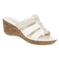B1702 Leather Upper Sandals in Beige Multi