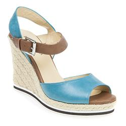 BEL17009 Leather Sandals in Blue, Tan